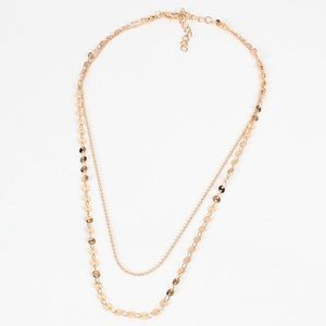 Jewelry - Simple sexy double layer disc necklace